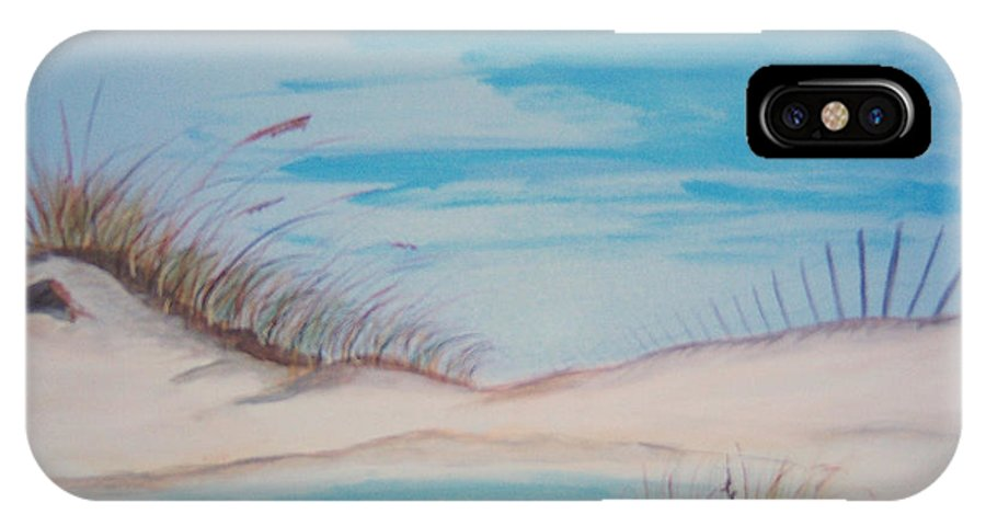 Sand IPhone X Case featuring the painting Tide Pool by Nancy Nuce
