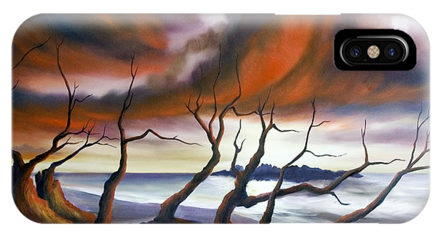 Marsh IPhone X Case featuring the painting Tideland by James Christopher Hill