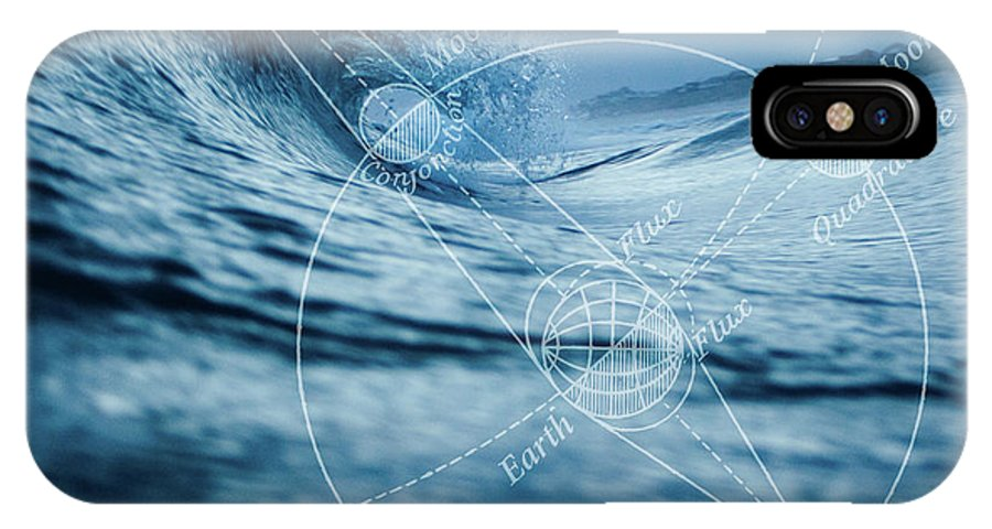 Ocean IPhone X Case featuring the digital art Tides by Roberta Boe