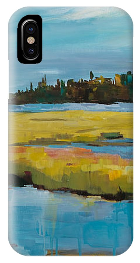 Landscape IPhone X Case featuring the painting Tidewater II by Michele Norris