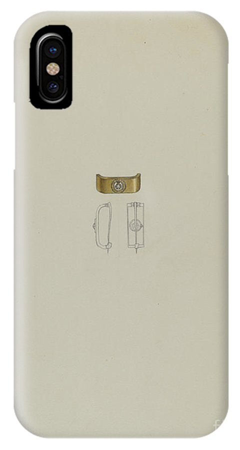 IPhone X Case featuring the drawing Tie Pin by Eugene Barrell