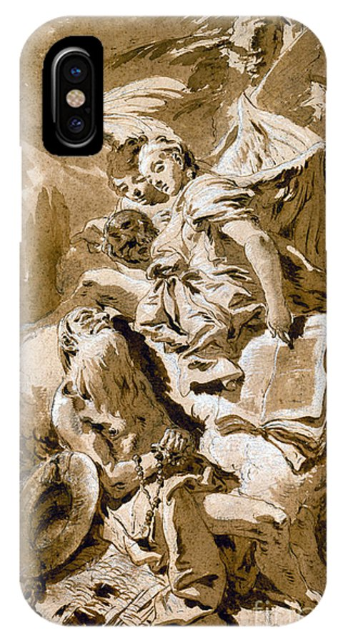 1730s IPhone X Case featuring the painting Tiepolo: Saint Jerome by Granger