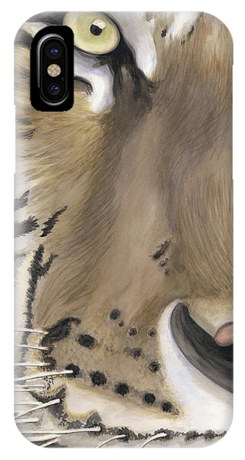 Tiger IPhone X Case featuring the painting Tiger Face by Patty Vicknair