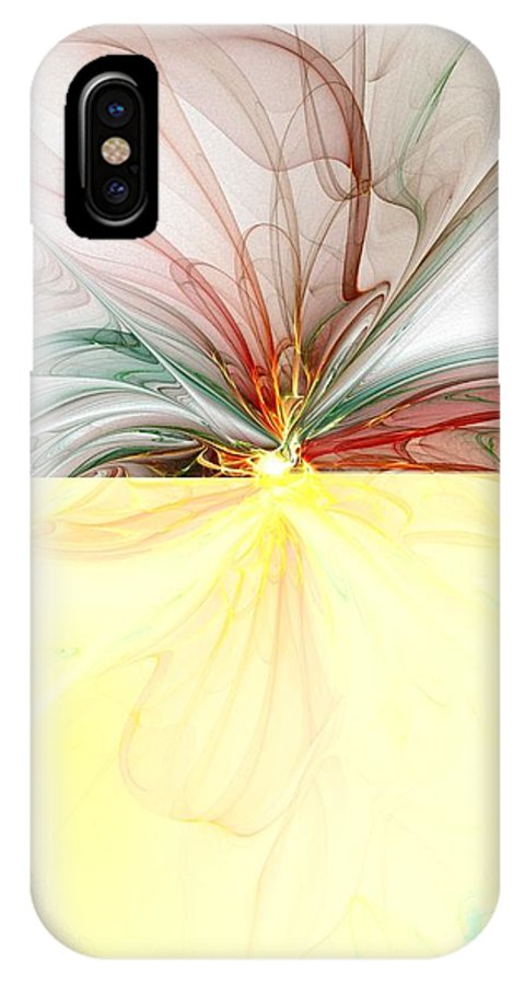 Digital Art IPhone X Case featuring the digital art Tiger Lily by Amanda Moore