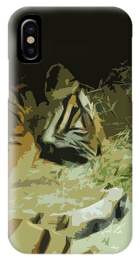 Abstract IPhone X Case featuring the photograph Tiger by Maggy Marsh