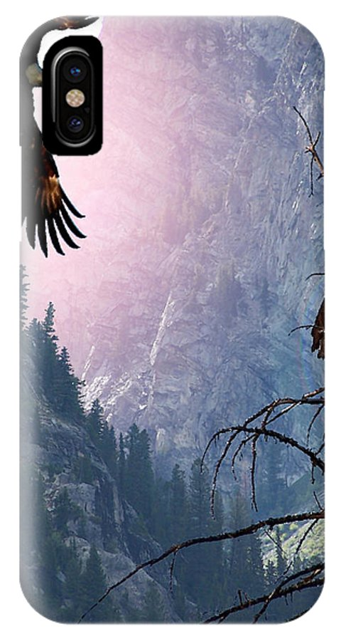 Eagles IPhone X Case featuring the digital art Till Death Do Us Part by Bill Stephens