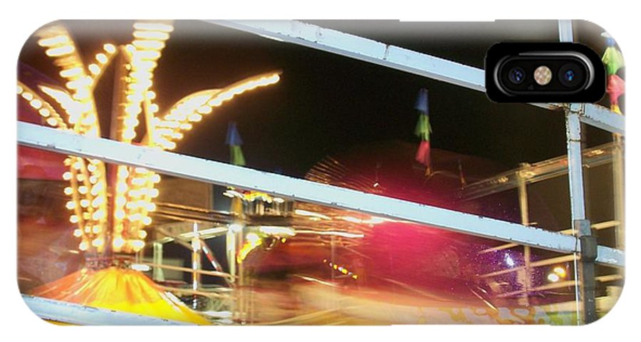 State Fair IPhone X Case featuring the photograph Tilt-a-whirl 2 by Anita Burgermeister