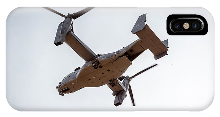 Airplane IPhone X Case featuring the photograph Tilt Rotor Helicopter #1 by Jon Manjeot