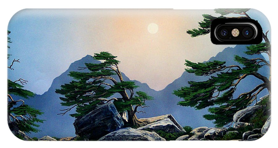 Timberline Guardians IPhone Case featuring the painting Timberline Guardians by Frank Wilson