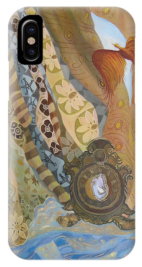 Still Life IPhone Case featuring the painting Time by Antoaneta Melnikova- Hillman