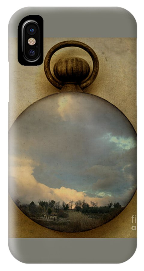 Time IPhone X / XS Case featuring the photograph Time Free by Martine Roch