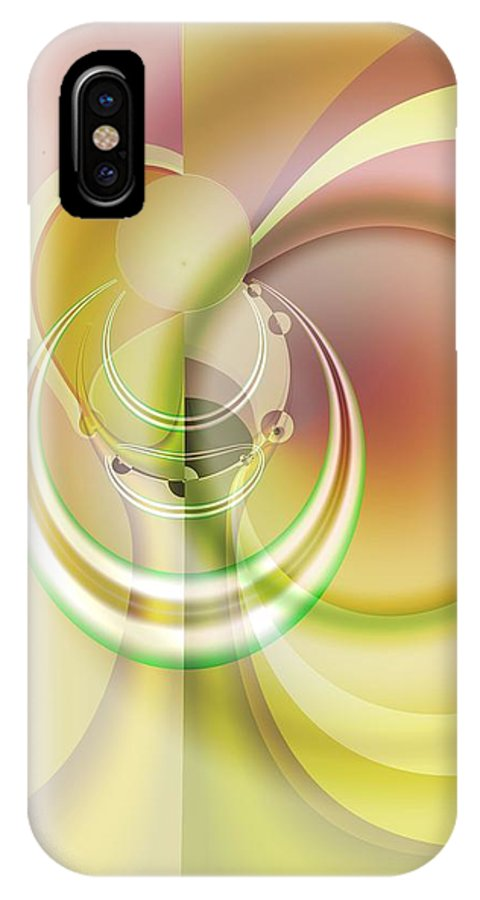 Fractal IPhone X Case featuring the digital art Time Warp Revisited by Frederic Durville