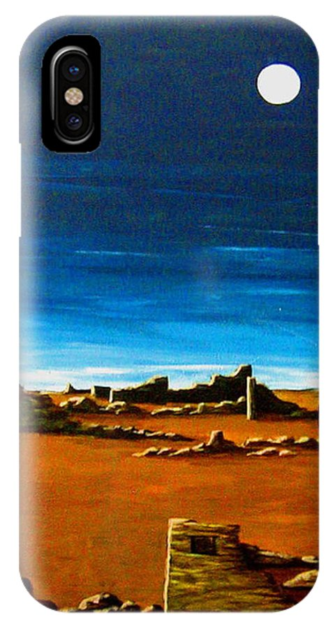 Anasazi IPhone X Case featuring the painting Timeless by Diana Dearen