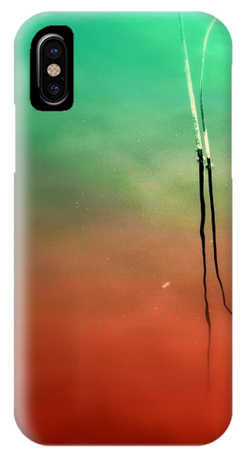 Red IPhone X Case featuring the photograph Timeless by Susanne Van Hulst