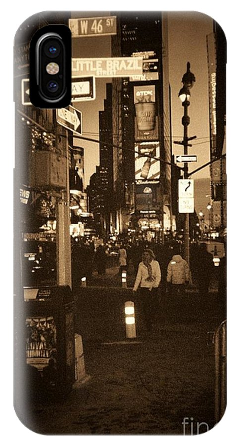 New York IPhone Case featuring the photograph Times Square by Debbi Granruth