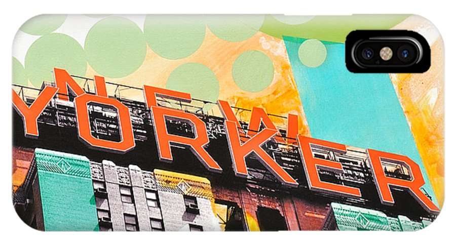 Ny IPhone Case featuring the painting Times Square New Yorker by Jean Pierre Rousselet