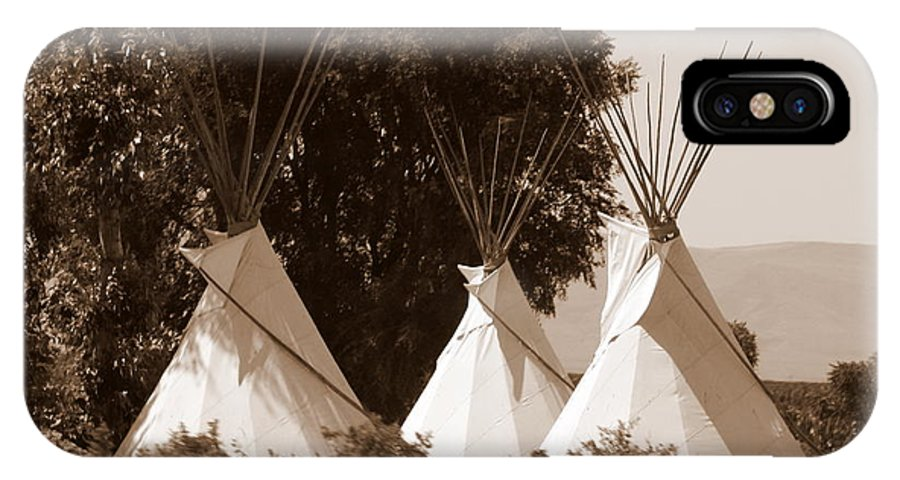Tipis IPhone X Case featuring the photograph Tipis In Toppenish by Carol Groenen