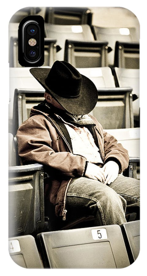 Cowboy IPhone X Case featuring the photograph Tired Buckaroo by Marilyn Hunt
