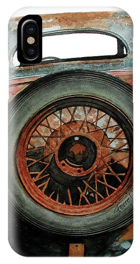 Car IPhone X Case featuring the painting Tired by Ferrel Cordle