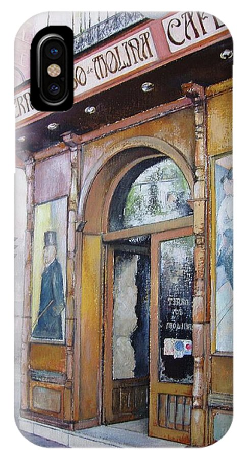 Tirso IPhone X Case featuring the painting Tirso De Molina Old Tavern by Tomas Castano