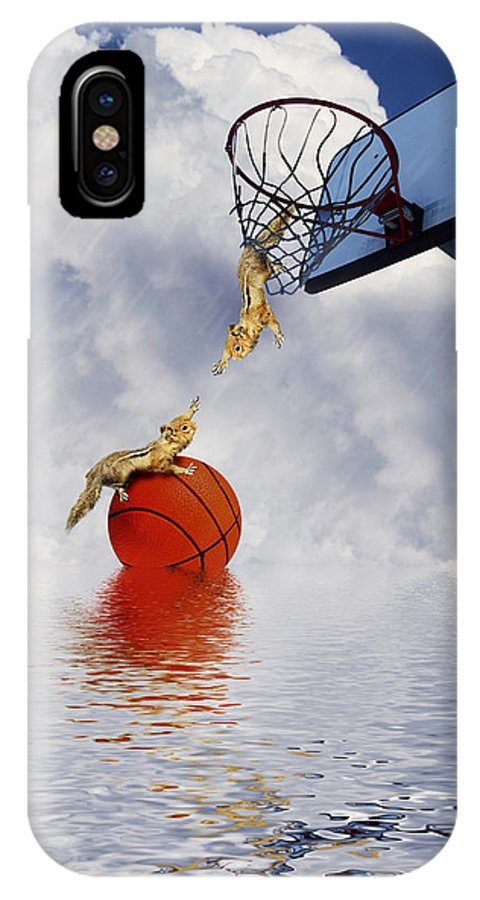 Chipmunk IPhone X Case featuring the photograph To The Rescue by Gravityx9  Designs