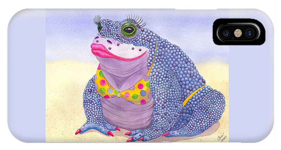 Toad IPhone Case featuring the painting Toadaly Beautiful by Catherine G McElroy