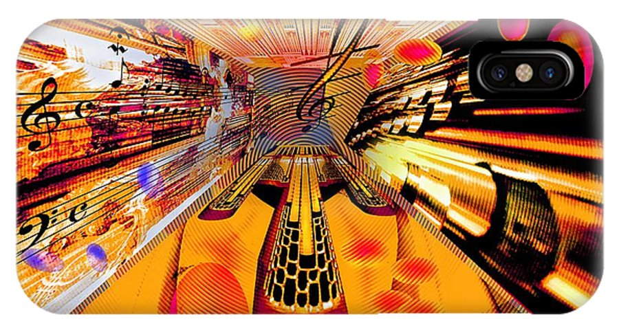 Toccata IPhone Case featuring the digital art Toccata- Masters View by Helmut Rottler