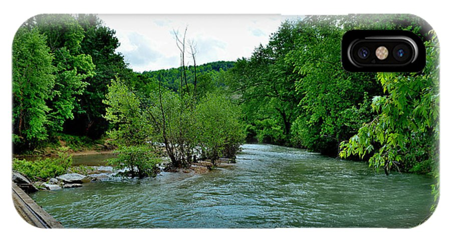 Rivers IPhone X / XS Case featuring the photograph Todays Art 1394 by Lawrence Hess