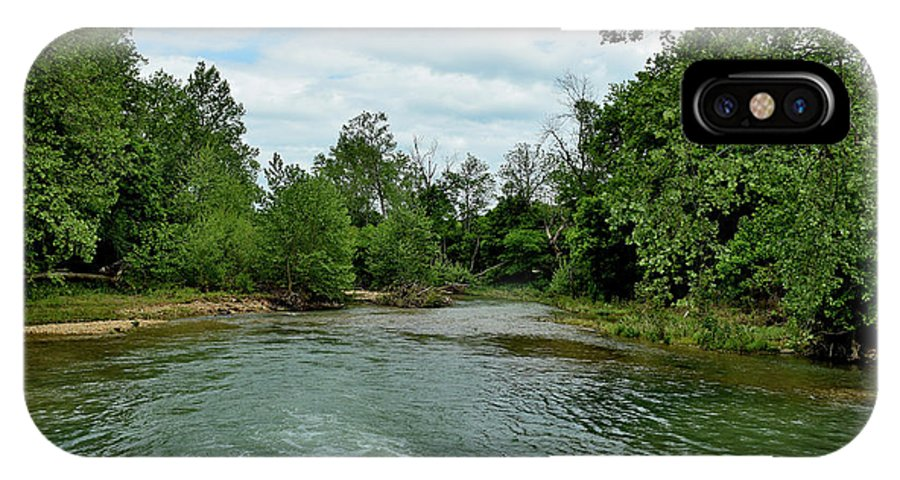 Rivers IPhone X / XS Case featuring the photograph Todays Art 1399 by Lawrence Hess