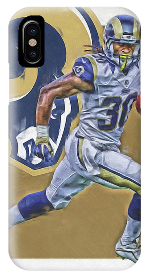 36ad3ce6 Todd Gurley Los Angeles Rams Oil Art IPhone X Case
