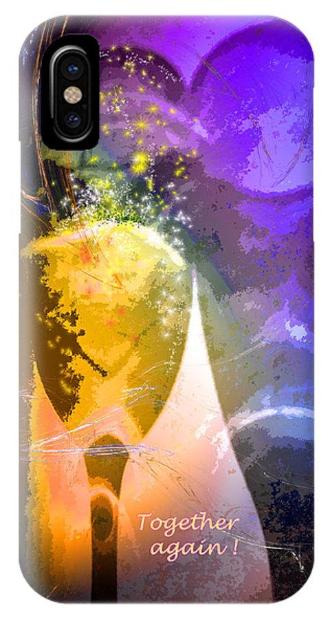 Fantasy IPhone Case featuring the photograph Together Again by Miki De Goodaboom