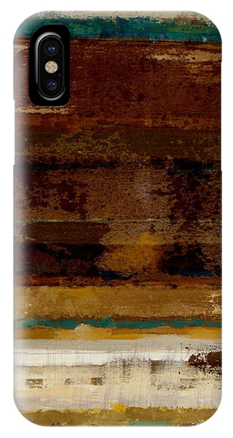 Abstract IPhone X Case featuring the painting Togetherness II by Ruth Palmer