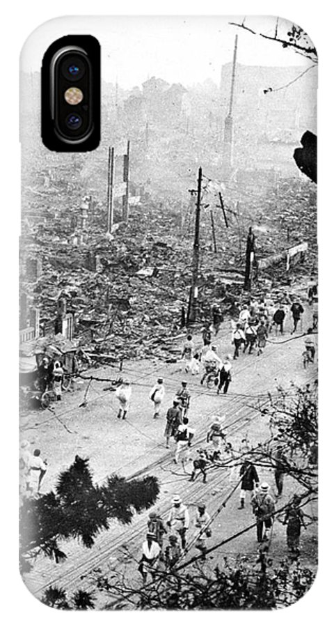 1923 IPhone X Case featuring the photograph Tokyo Earthquake, 1923 by Granger