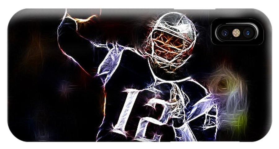 Tom Brady - New England Patriots IPhone X Case featuring the photograph Tom Brady - New England Patriots by Paul Ward