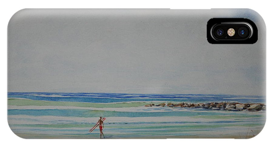 Beach IPhone X / XS Case featuring the painting Tom by Tom Harris