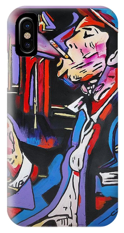 Tom Waits IPhone X Case featuring the painting Tom Traubert's Blues by Eric Dee