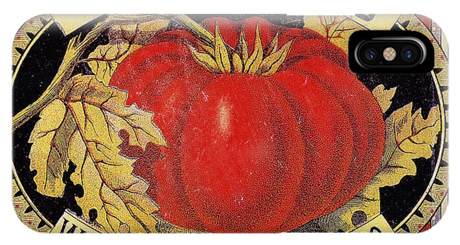 20th Century IPhone X Case featuring the photograph Tomato Can Label by Granger