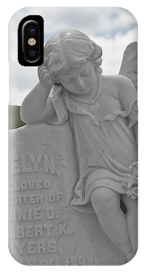 Bodie IPhone X Case featuring the photograph Tombstone Angel For An Angel by Christine Till