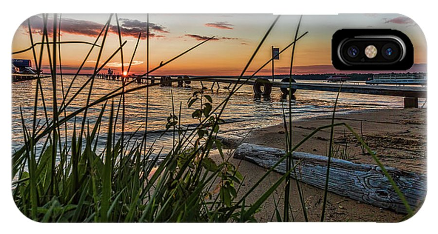 Sunset IPhone X Case featuring the photograph Tonights Sunset by Joe Holley
