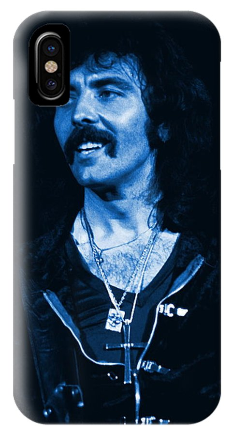 Black Sabbath IPhone X Case featuring the photograph Blue Fluff by Ben Upham