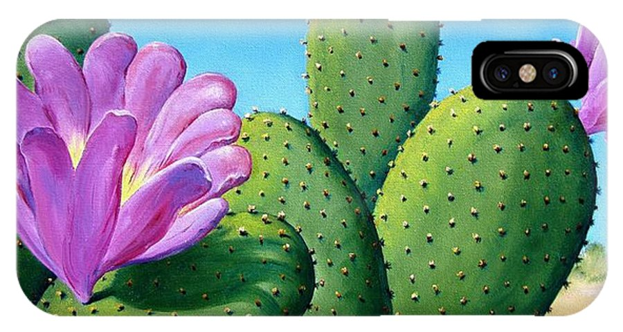 Landscape IPhone X Case featuring the painting Too Close For Comfort by Tanja Ware