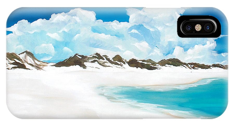 Beach IPhone X Case featuring the painting Topsail Hill by Racquel Morgan