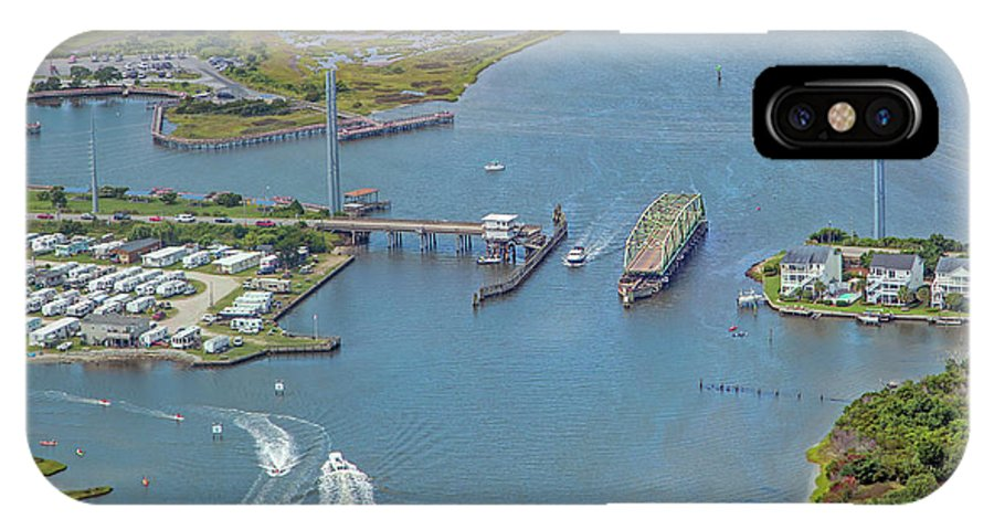 Topsail IPhone X Case featuring the photograph Topsail Island Top Of The Hour by Betsy Knapp