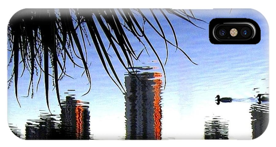 Sunset IPhone X Case featuring the photograph Topsy-turvy by Will Borden