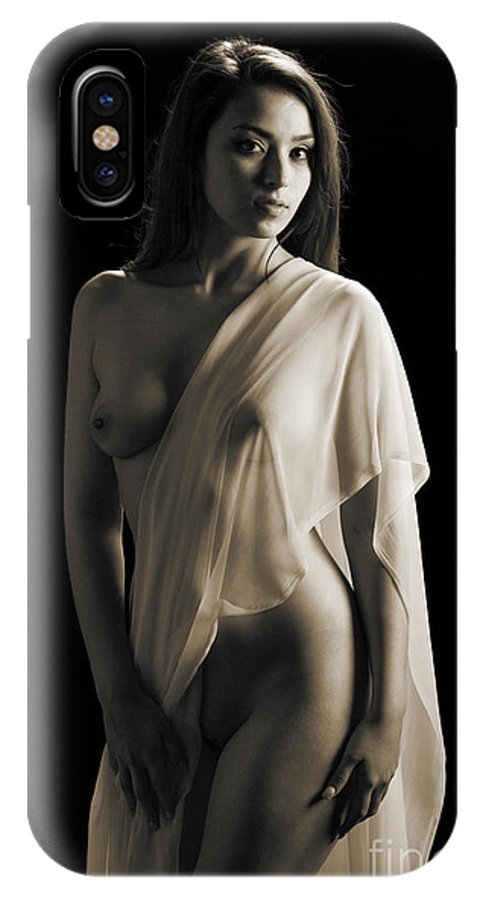 Toriwaits IPhone X Case featuring the photograph Toriwaits Nude Fine Art Print Photograph In Black And White 5117 by Kendree Miller