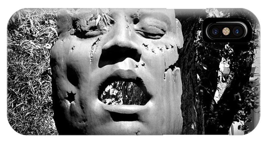 Outdoor Sculpture IPhone X Case featuring the photograph Torn by Bernd Billmayer