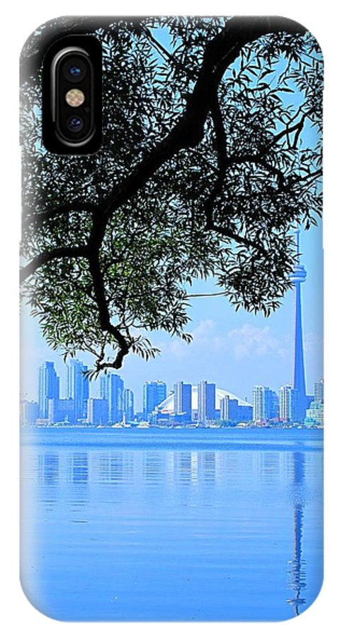Cn Tower IPhone X Case featuring the photograph Toronto Framed by Ian MacDonald