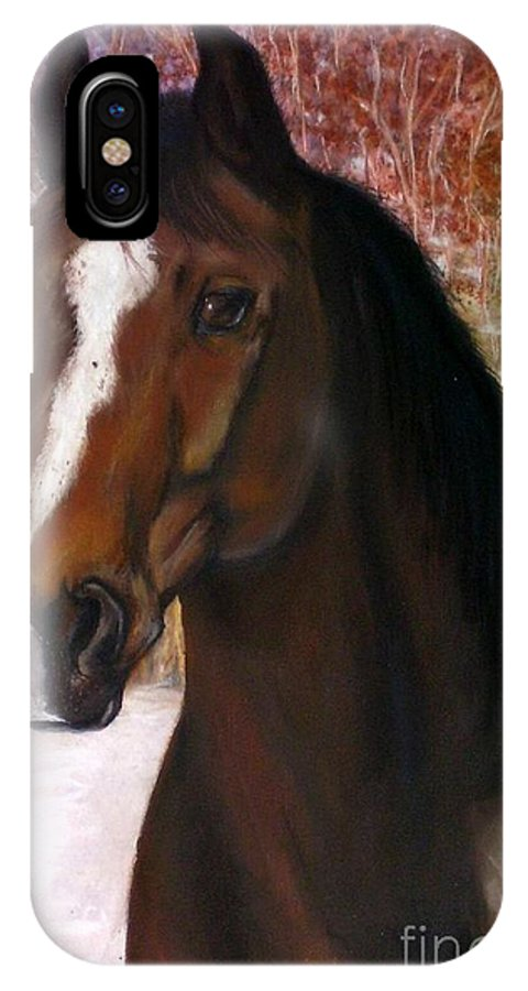 Horse IPhone X Case featuring the painting Toronto by Frances Marino