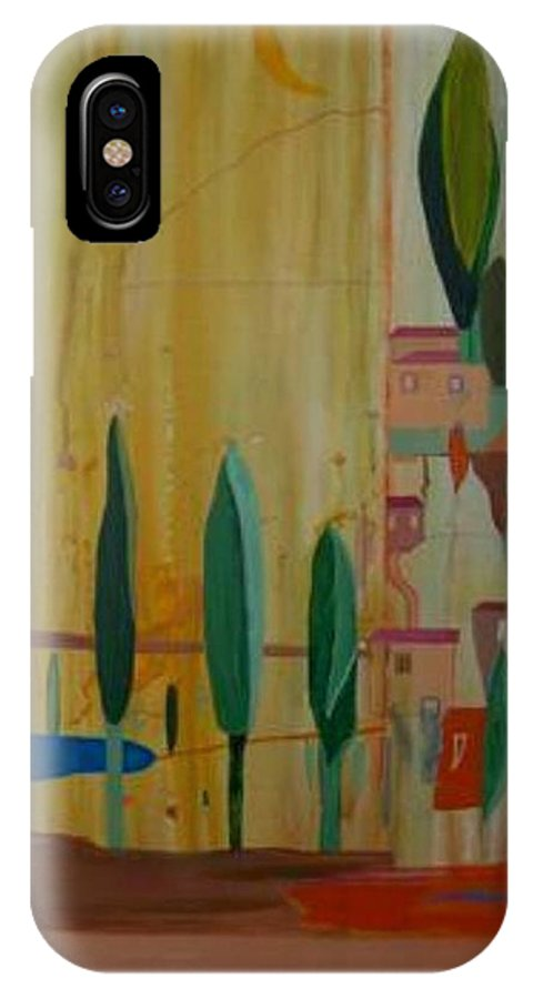 Italy IPhone X Case featuring the painting Toscana Cinque Terre by Michael Puya