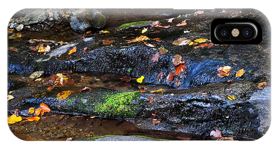 Water IPhone X Case featuring the photograph Touch Of Fall by Todd Hostetter